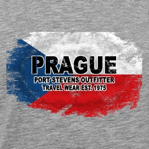 Prague - Czech Republic Flag Langarmshirts - Männer Premium T-Shirt