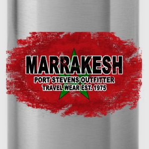 Marrakesh - Morocco Flag  - Vintage Look Pullover & Hoodies - Trinkflasche