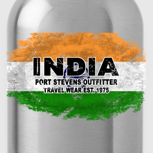 India Flag - Vintage Look T-Shirts - Trinkflasche