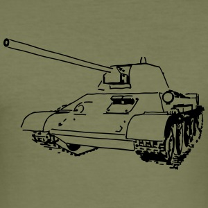T-34 PANZER - Männer Slim Fit T-Shirt