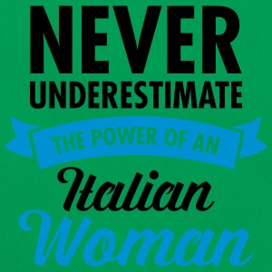 Never Underestimate The Power Of An Italian Woman Magliette - Borsa retrò