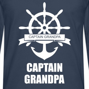 Captain Grandpa T-Shirts - Men's Premium Longsleeve Shirt