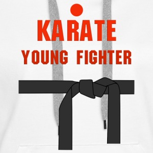 Karate young fighter - Bluza damska Premium z kapturem