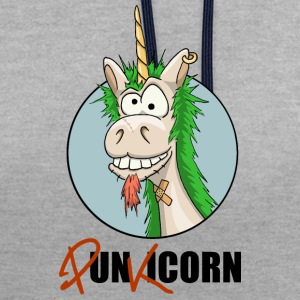 Licorne Punkicorn  Tee shirts - Sweat-shirt contraste