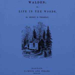 walden book cover Tee shirts - Tote Bag