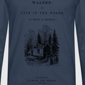 walden book cover Tee shirts - T-shirt manches longues Premium Homme