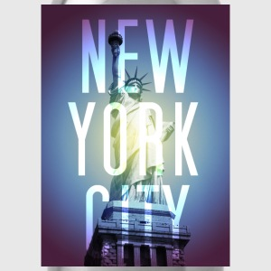 New York Blue T-Shirts - Trinkflasche