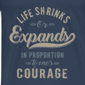 Courage. Motivational Art - Men's Premium T-Shirt