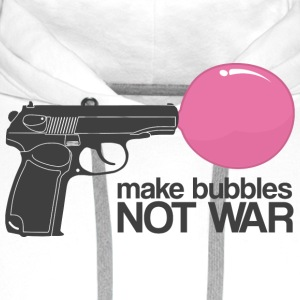 Make bubbles not war T-shirts - Mannen Premium hoodie
