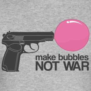Make bubbles not war Sweaters - slim fit T-shirt