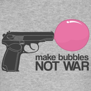 Make bubbles not war Hoodies & Sweatshirts - Men's Slim Fit T-Shirt
