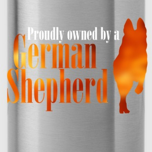 Proudly owned by a German Shepherd - Water Bottle