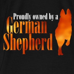 Proudly owned by a German Shepherd - Men's Premium T-Shirt