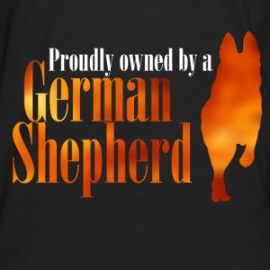 Proudly owned by a German Shepherd - Men's Premium Longsleeve Shirt