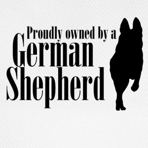 Proudly owned by a German Shepherd - Baseball Cap