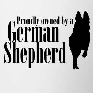 Proudly owned by a German Shepherd - Mug