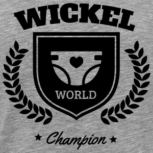 Wickel World Champion Sportkläder - Premium-T-shirt herr