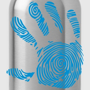 digitalen fussabdruck in 1010 hand T-Shirts - Trinkflasche