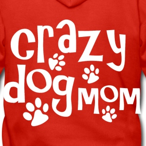 Crazy dog mom - Men's Premium Hooded Jacket