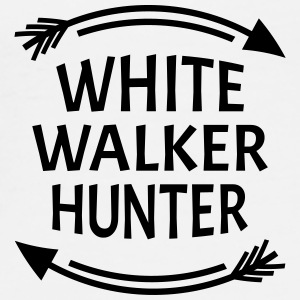 White walker hunter Vesker & ryggsekker - Premium T-skjorte for menn