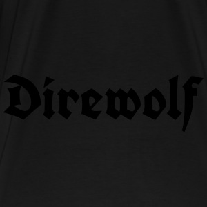 Direwolf Lettering Bags & Backpacks - Men's Premium T-Shirt