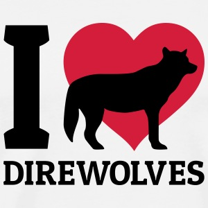 I love direwolves Topper - Premium T-skjorte for menn