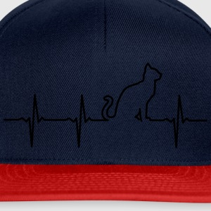 Cat - Heartbeat Tee shirts - Casquette snapback