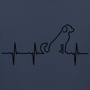 Dog - Heartbeat T-Shirts - Männer Premium Tank Top
