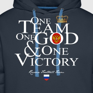 One Team One God Russia - Sweat-shirt à capuche Premium pour hommes