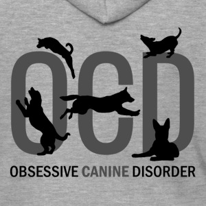OCD - Obsessive Canine Disorder - Men's Premium Hooded Jacket