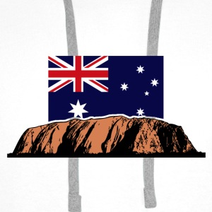 Ayers Rock - Australia Flag Topper - Premium hettegenser for menn