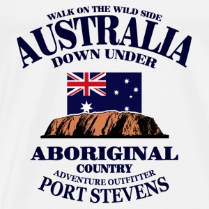 Ayers Rock - Australia Flag Tops - Men's Premium T-Shirt