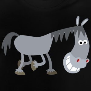 Sniggering Cartoon Horse by Cheerful Madness!! Shirts - Baby T-Shirt