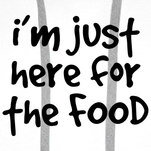 I'm just here for the food T-shirts - Premiumluvtröja herr