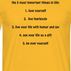 Tanktop 5 wichtige Dinge-5 most important things - Männer T-Shirt