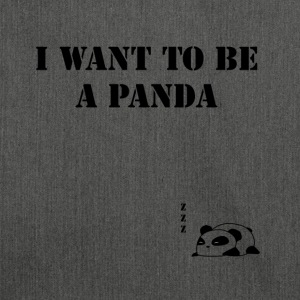 I Want to be a Panda - Borsa in materiale riciclato