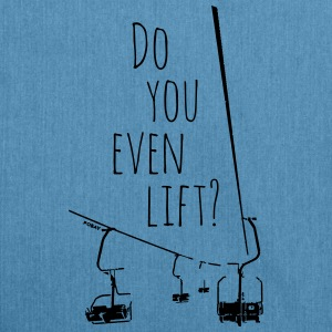 Do you even lift? Top - Schultertasche aus Recycling-Material