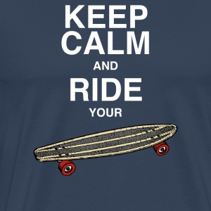 Tanktop Keep calm and ride your board - Männer Premium T-Shirt