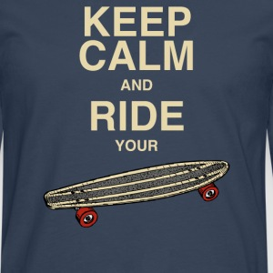 Tanktop Keep calm and ride your board - Männer Premium Langarmshirt