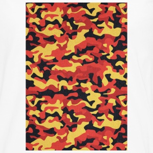 Camouflage Pattern in Red Black Yellow  Handy & Tablet Hüllen - Männer Premium Langarmshirt