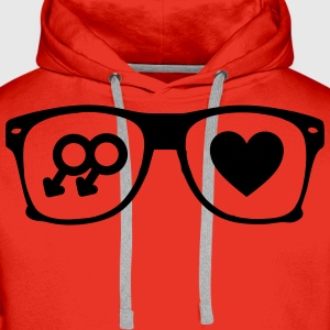 glasses gay Tee shirts - Sweat-shirt à capuche Premium pour hommes