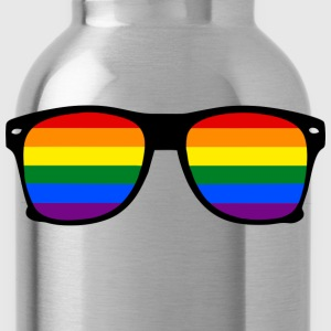 glasses rainbow T-shirts - Vattenflaska
