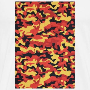 Camouflage Pattern in Red Black Yellow  Krus & tilbehør - Herre premium T-shirt