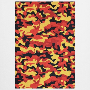 Camouflage Pattern in Red Black Yellow  Other - Cooking Apron
