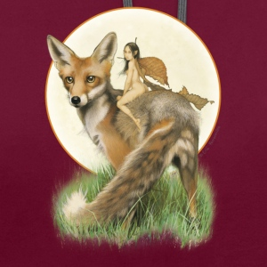 Fox and Fairy - Contrast Colour Hoodie