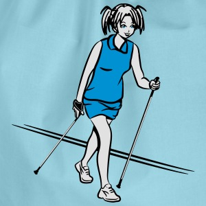 nordic walking girl T-Shirts - Drawstring Bag