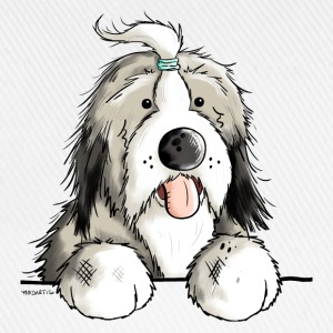 Lycklig Bearded Collie Babybody - Basebollkeps