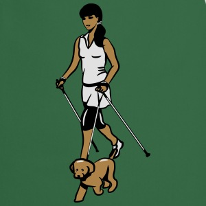 nordic walking female dog T-Shirts - Cooking Apron