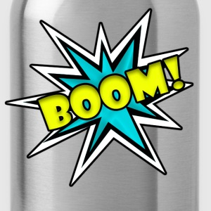 Comic Book Boom Tshirt  - Water Bottle