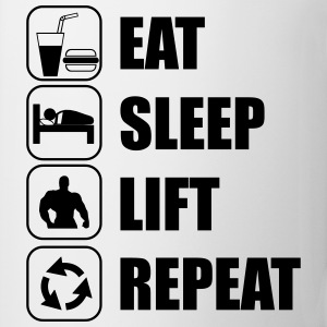 Eat Sleep Lift Repeat Camisetas - Taza
